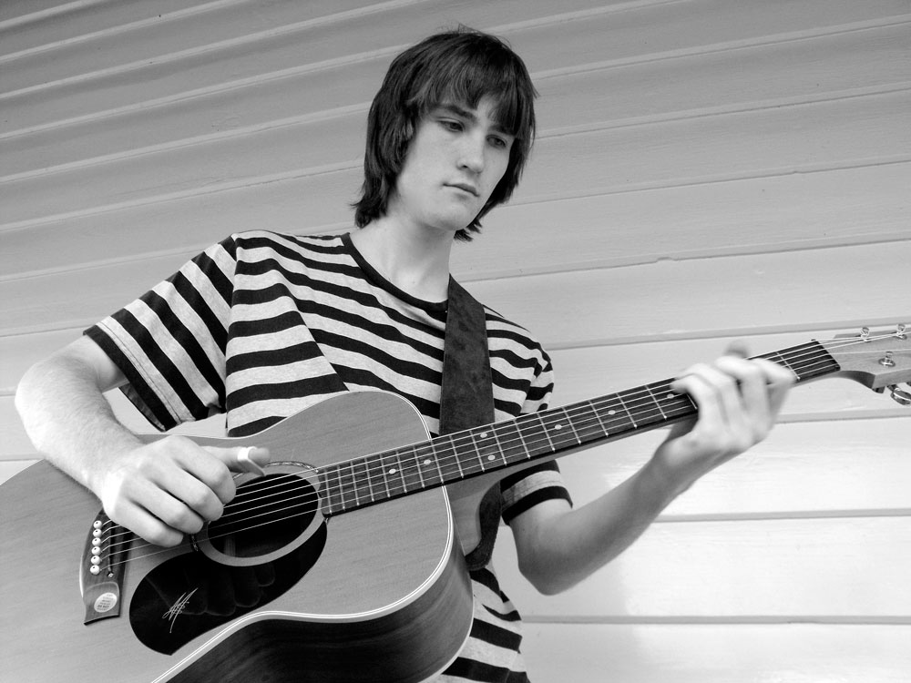 Martin Foote with his first Maton guitar - 2010